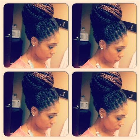 conservative weave hairstyles box braid style conservative style bun braids