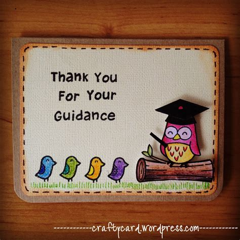 Handmade Card Designs For Teachers Day - m201 thank you for your guidance crafty card