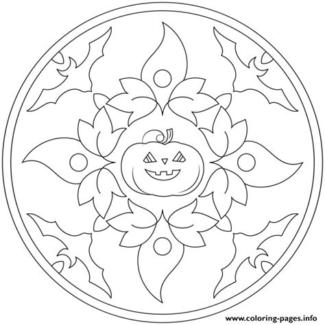 bats and pumpkins coloring pages halloween mandala with bats and pumpkin coloring pages