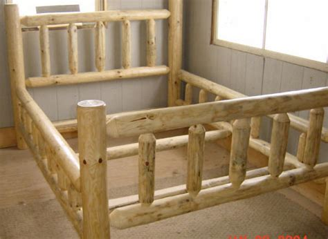 log bed frames custom log furniture