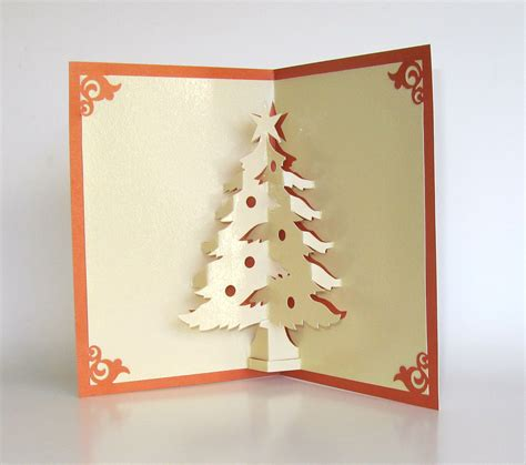 Handmade 3d Cards - tree pop up up greeting card home d 233 cor 3d handmade