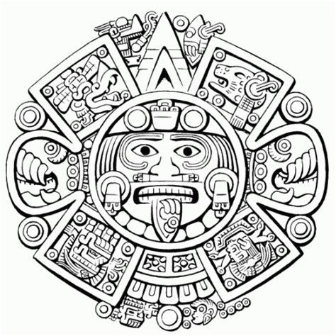 Calendario Azteca Para Colorear Calendario Azteca Para Colorear Imagui