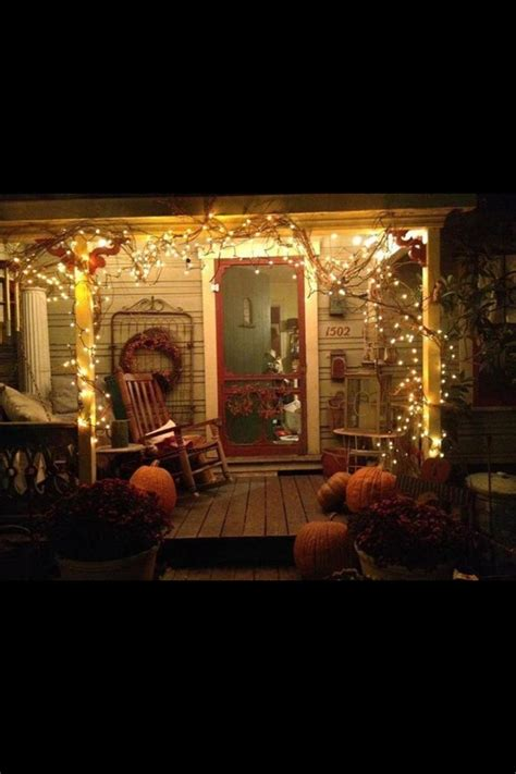 grapevine carol of lights fall porch decorating a country porch pinterest