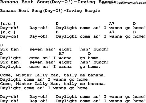 day song summer c song banana boat song day o irving burgie