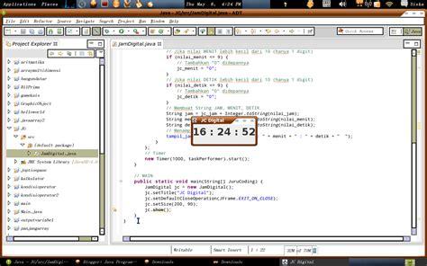 cara membuat jam digital di java java programming membuat jam digital dengan java