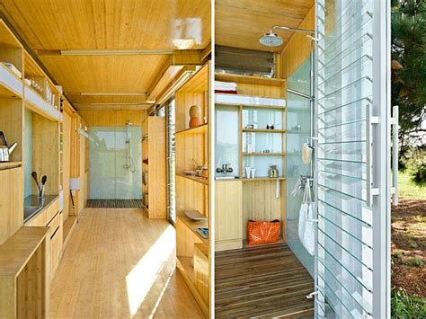 compact  sustainable port  bach shipping container