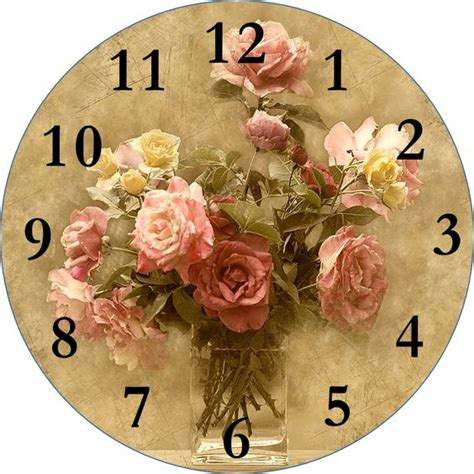 Decoupage Clock - decoupage clock printable click for more smells