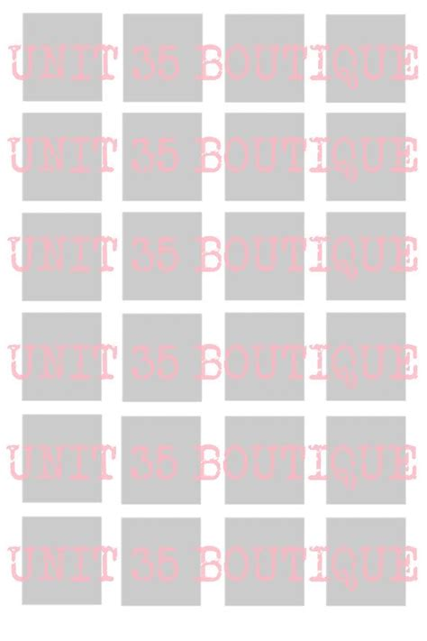 blank 4x6 inch scrabble tile collage sheet template 24