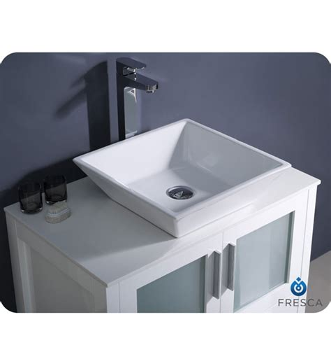 modern bathroom sinks fresca torino 30 quot white modern bathroom vanity vessel sink