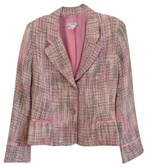tweed style jacket ninety pink chanel style tweed jacket buttons blazer