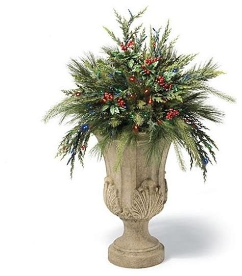 cordless urn filler christmas decor traditional