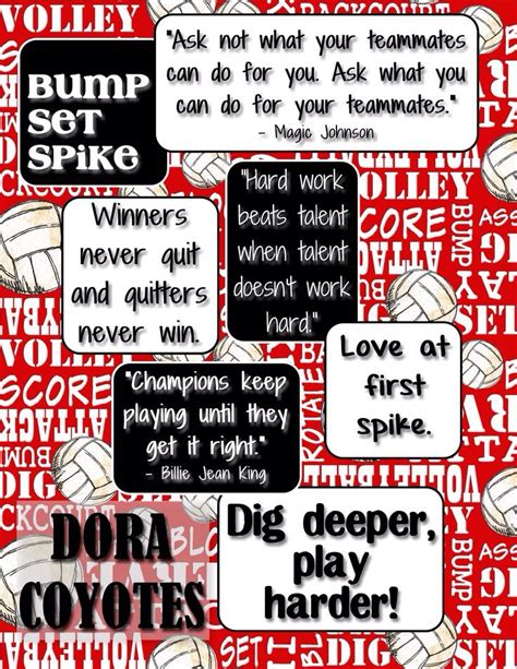 printable volleyball sayings great volleyball quotes volleyball pinterest