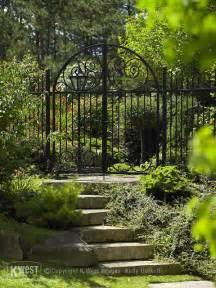 Iron Garden Gate Wrought Iron Garden Gate Traditional Landscape