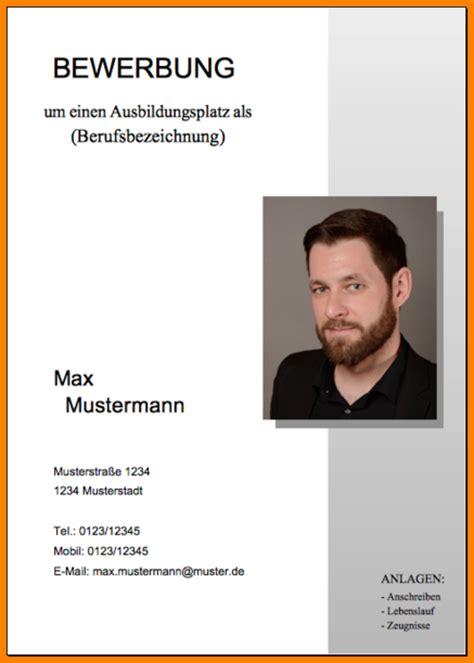 Layout Free 11 deckblatt bewerbung muster kostenlos resignation format
