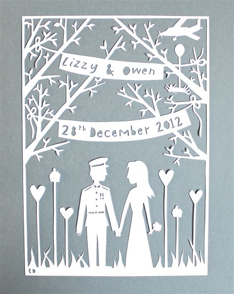 138 Best Paper Cut Images - made by ed a paper cut wedding gift for a skydiving