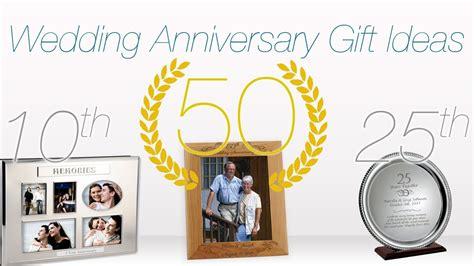 gift ideas for wedding anniversaries 1st 10th 25th 50th anniversary ideas