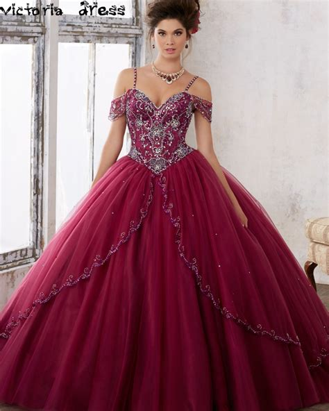 Dress Cinderella Maroon T17 burgundy quinceanera dresses reviews shopping
