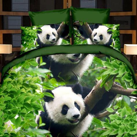 panda bed 3pcs 3d print panda bamboo design bedding bed sheets home