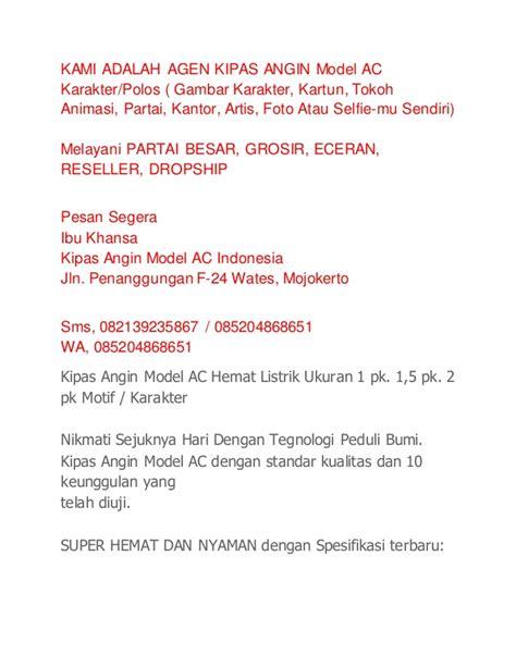 Kipas Angin Ac Karakter 3pk wa hub 0821 3923 5867 distributor kipas angin ac agen