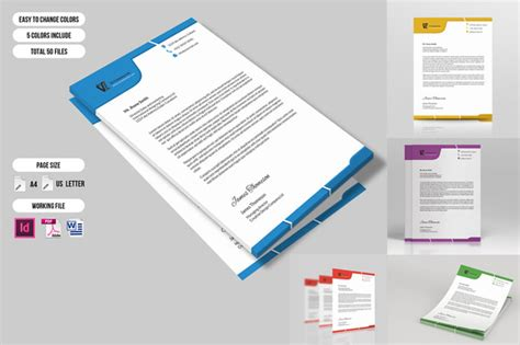 business letterhead templates indesign corporate letterhead sistec