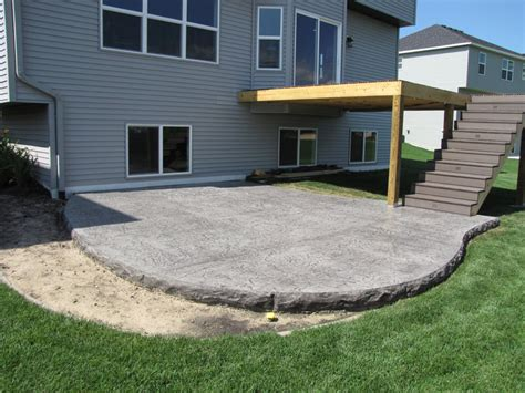 cement backyard decorative concrete patios minneapolis sted concrete