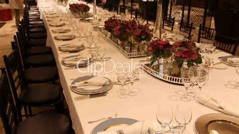 elegant table elegant dinner table setting royalty free video and stock