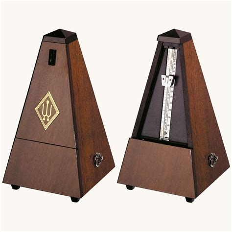 Mechanical Metronome Walnut wittner 845131 mechanical metronome walnut grain