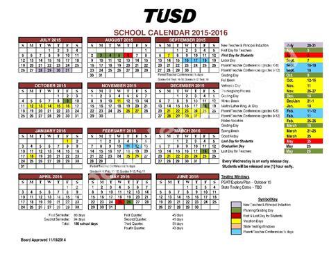 School District Calendar 2016 2015 2016 School Calendar Valencia Middle School