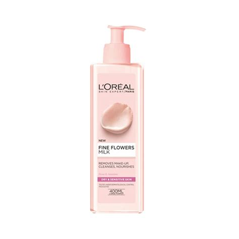 L Oreal Cleansing Milk l or 233 al flowers cleansing milk 400ml feelunique