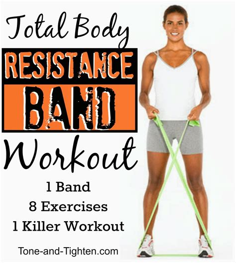total resistance band workout 8 exercises to tone