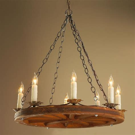 Wagon Wheel Chandeliers antique 24 inch wagon wheel chandelier