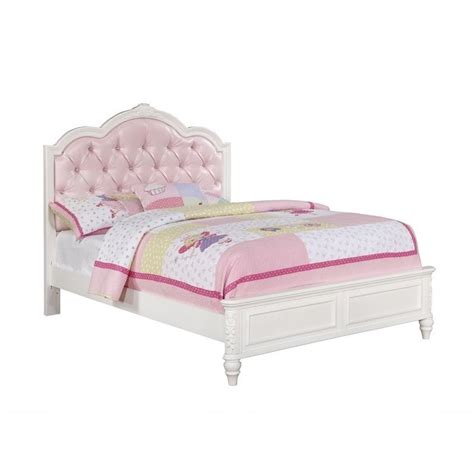 full tufted bed coaster caroline full diamond tufted bed in white 400720f