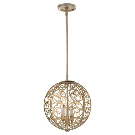 patina chandelier feiss arabesque 3 light silver leaf patina indoor
