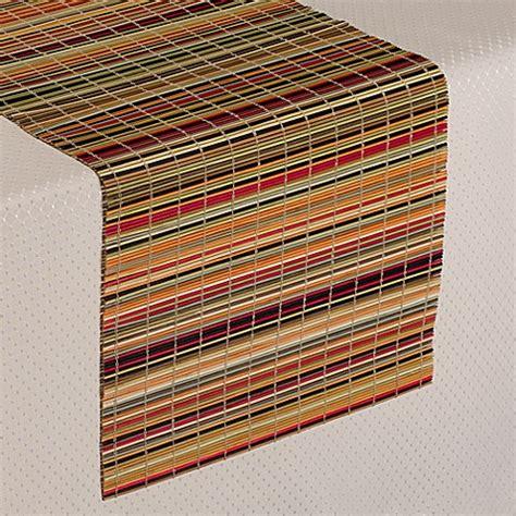 stripe table runner bamboo stripe table runner bed bath beyond