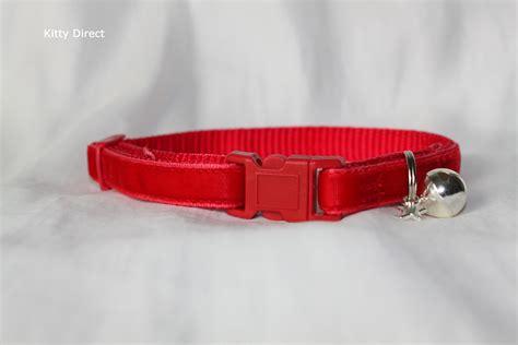 safety collar luxury velvet handmade cat kitten safety collars