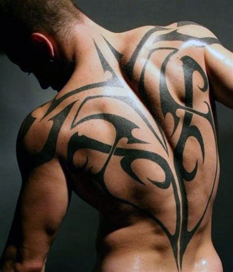 tattoo back man tribal 60 tribal back tattoos for men bold masculine designs
