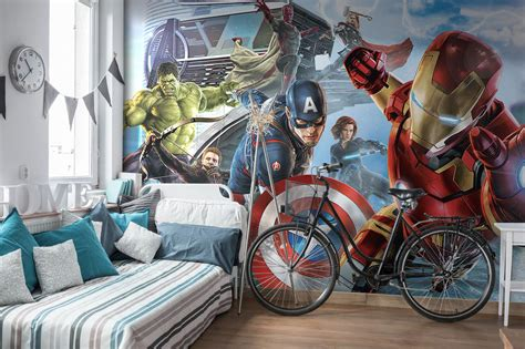 marvel wall mural paper wallpaper 368x254cm wall mural for room marvel ebay
