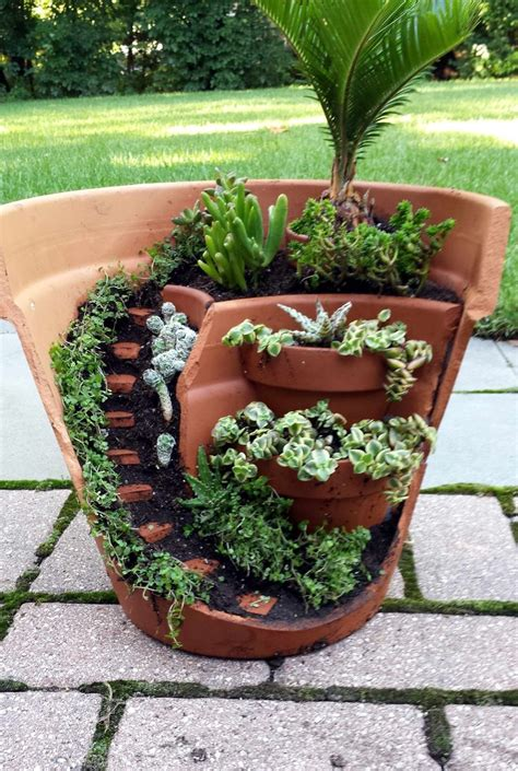 Garden In Pots Ideas Best 25 Broken Pot Garden Ideas On Pinterest Garden Pots Pots And My Garden