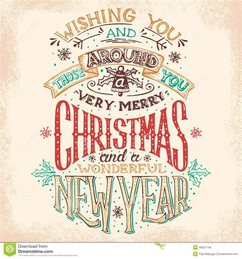 christmas   year hand lettering stock vector image