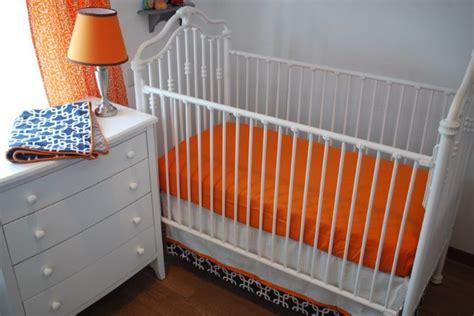 119 Best Images About Orange In The Nursery On Pinterest Denver Broncos Crib Bedding