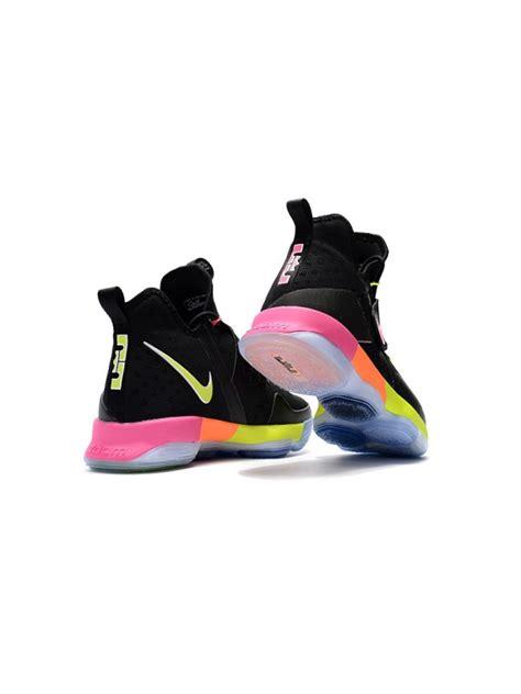 lebron 14 shoes 2017 lebron 14 shoes black rainbow color