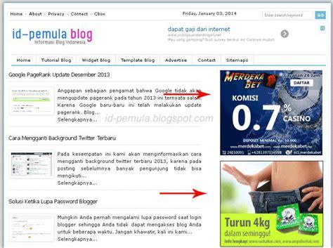 cara membuat blog iklan membuat iklan banner pada widget blog id pemula blogspot