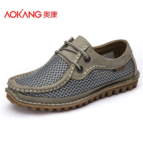 comfortable summer shoes aokang casual shoes for men 2015 summer breathable men