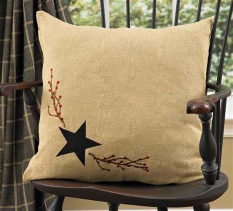 primitive couch pillows burlap star decorative pillow primitive home decors