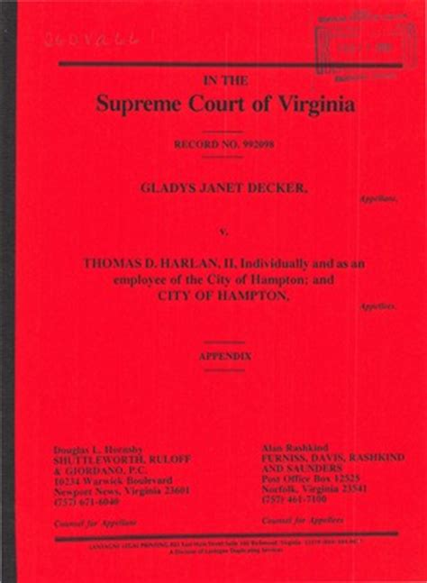 Supreme Court Records Virginia Supreme Court Records Volume 260 Virginia Supreme Court Records