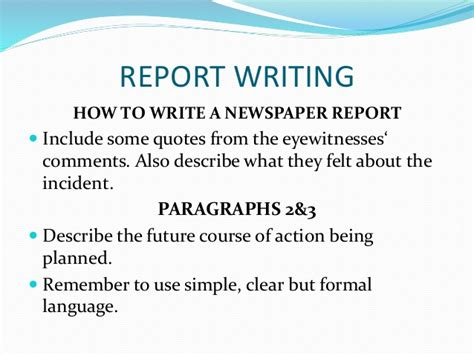 Newspaper Report Writing Cbse by Writing Skills Secondary School