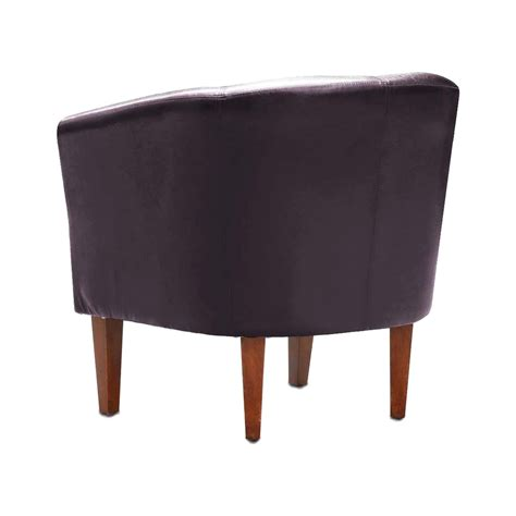 Leather Tub Dining Chairs Leather Tub Chair Armchair For Dining Living Room Office Reception Z9k5