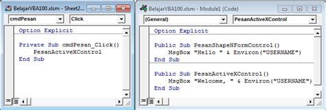 command pattern adalah komunitas belajar excel belajarvba 101 controls dalam