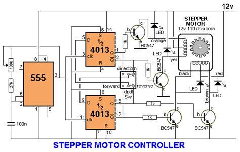 stepper motor controller circuit 555 timer circuit