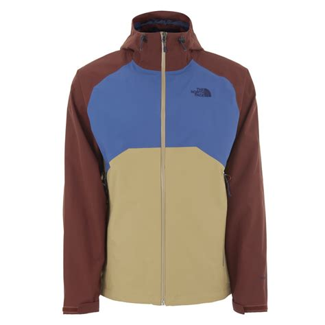 stratos boats clothing the north face men s stratos hyvent hooded jacket moab